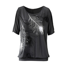 Women Feather Printed T-shirts