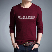 New Arrive Fashion Design Letter Print Sweater Man Casual Wear Autumn Pullover Man Red Green Knitwear Men's Slim Pullovers Male