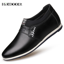 New Arrival Men Casual Leather Shoes Slip On Comfortable Flat Shoes Top Quality oxford shoes for men zapatos de hombre цены онлайн
