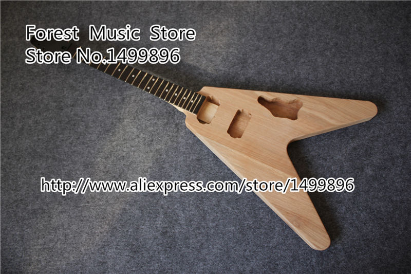 Top Selling Unfinished Flying V Electric Guitar Without Hardware China OEM Guitar Kit Left Handed Available electric guitar new tl guitar oem guitar guitar in china