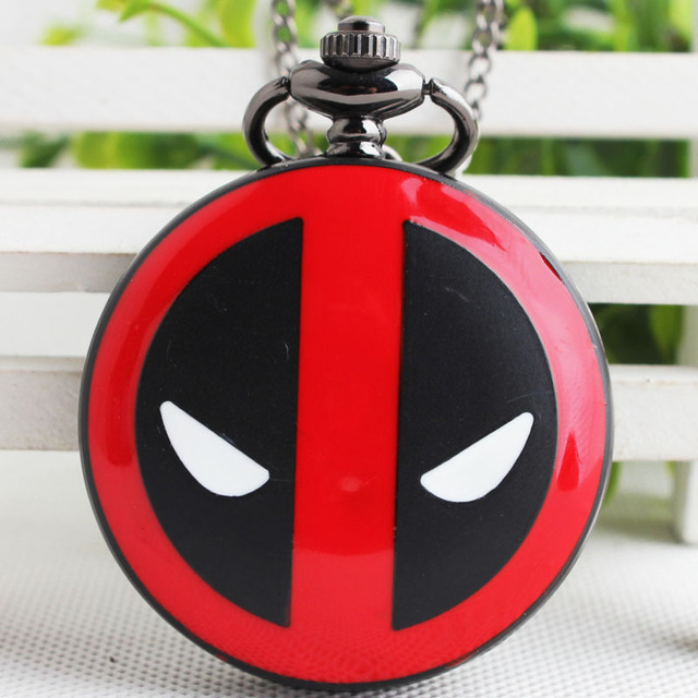 Fashion Deadpool Pocket Watch Male Retro Necklace Korean Version Antique Man Wom