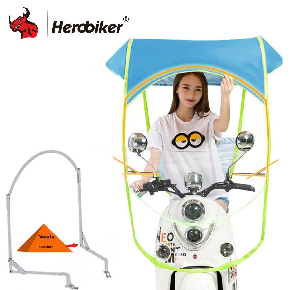 Couverture De moto Électrique Parapluie Pluie Étanche Moto Couvert Moto Moteur Pare-Soleil Ombre Tente Parapluie Pare-Brise