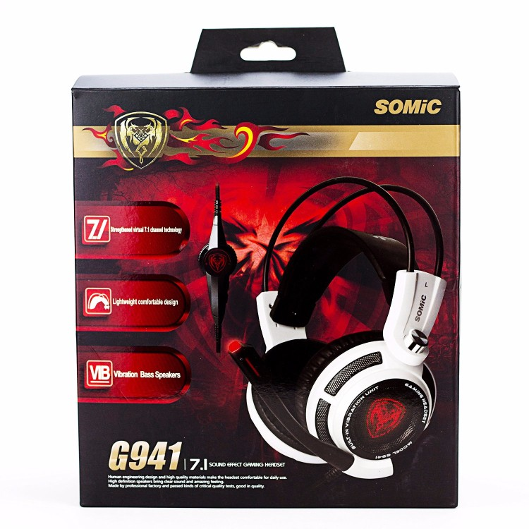 Gaming Headphones Somic G941 USB Game Headset  With Microphone 7.1 Surround Sound Effect Vibrating Function For PC Gamer (16)