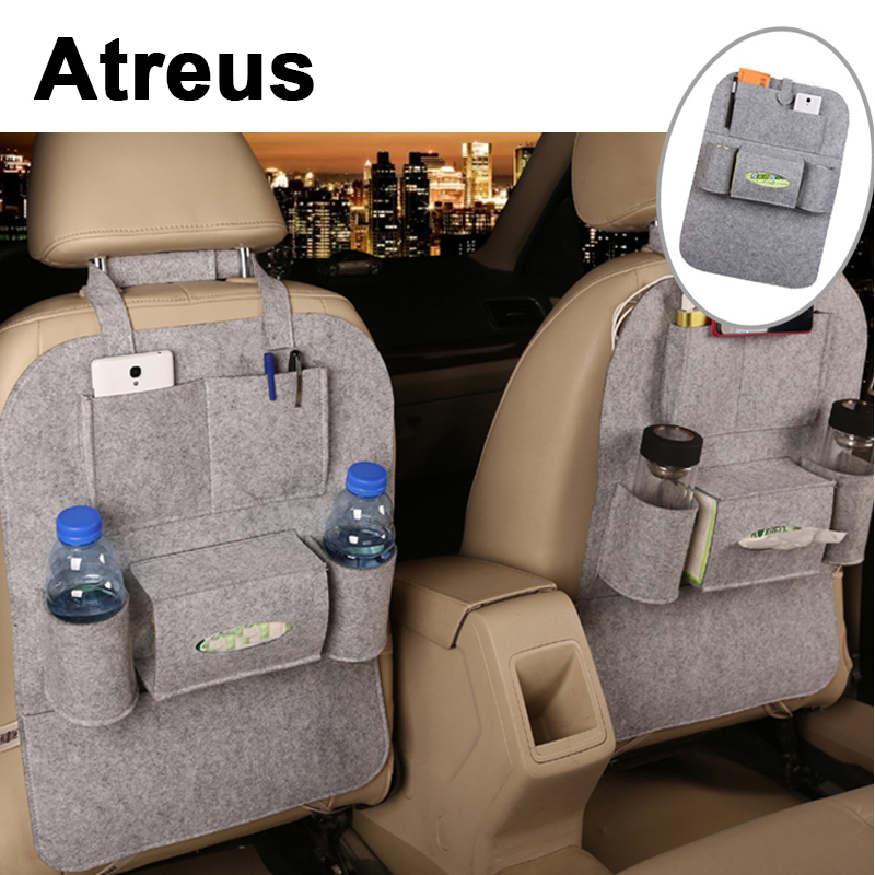 Atreus 1X For Ford Focus 2 3 Fiesta Toyota Corolla Avensis Mazda 3 6 cx-5 Car Styling back seat storage bag backpack Accessories
