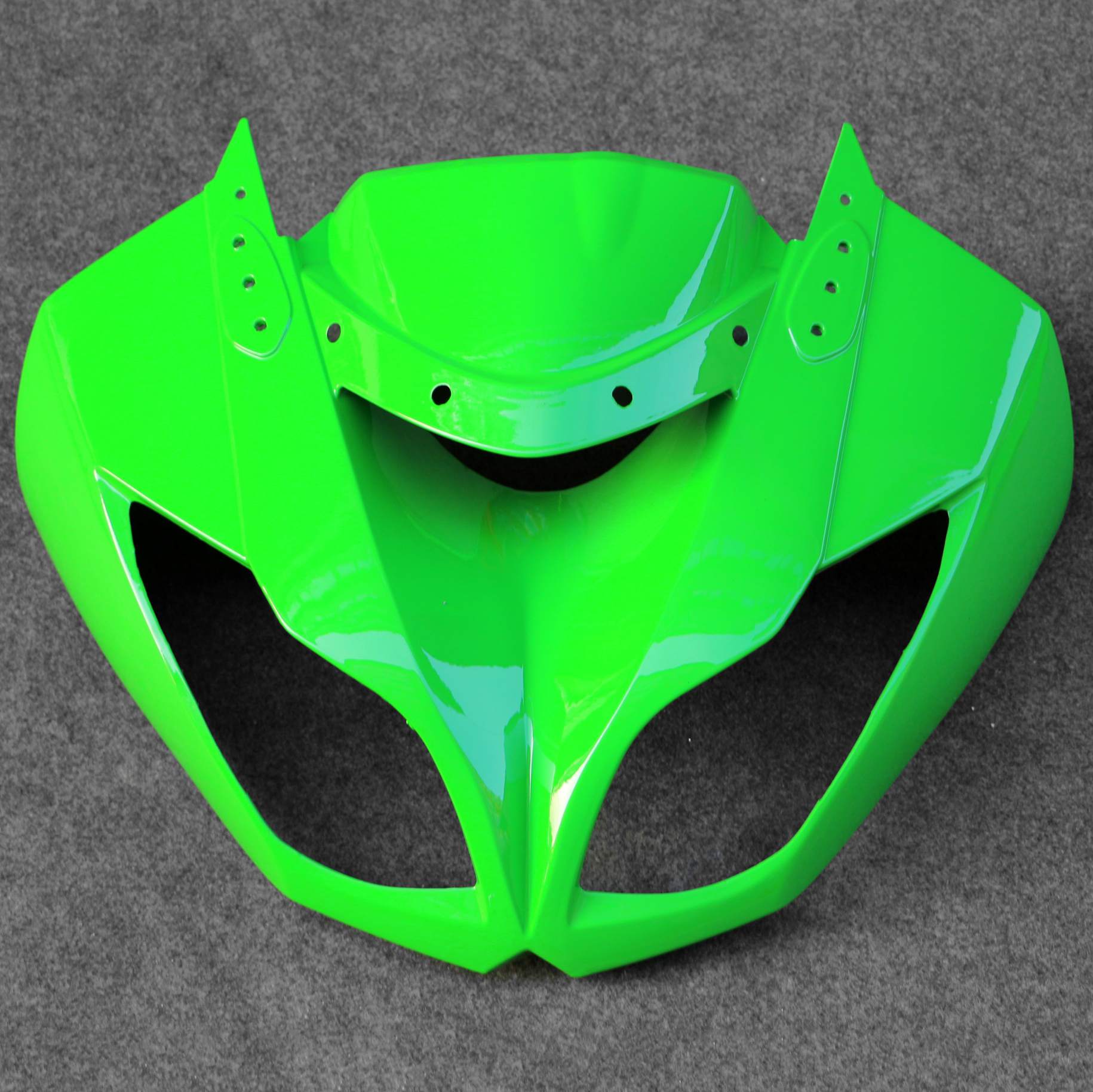 Fit For Kawasaki ZX6R 636 2009-2012 ABS Front Upper Nose Cowl Headlight FairingFit For Kawasaki ZX6R 636 2009-2012 ABS Front Upper Nose Cowl Headlight Fairing