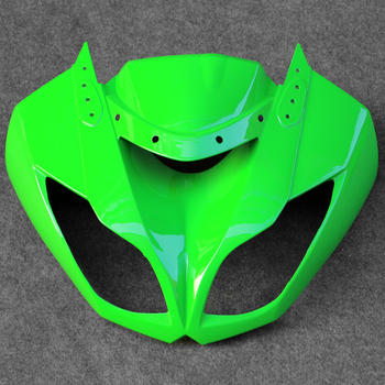 Fit For Kawasaki ZX6R 636 2009-2012 ABS Front Upper Nose Cowl Headlight Fairing