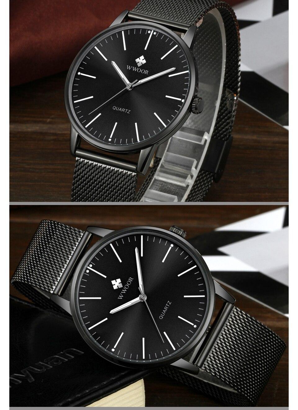 HTB1fMm8hOqAXuNjy1Xdq6yYcVXaW WWOOR Men Simple Slim Quartz Watch Gold Steel Mesh Ultra Thin Men Watches Luxury Brand Waterproof Male Wrist Watch Golden Clock