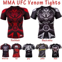 MMA UFC Venom Tights T shirt Wear short Sleeved Clothes Sleeved Training Tights T shirt