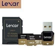 レキサーマイクロ sd カード 270 メガバイト/秒 1800 × 64 ギガバイトの microsd TF フラッシュメモリカードリーダー SDXC cartao デメモリア車のドローンスポーツビデオカメラ