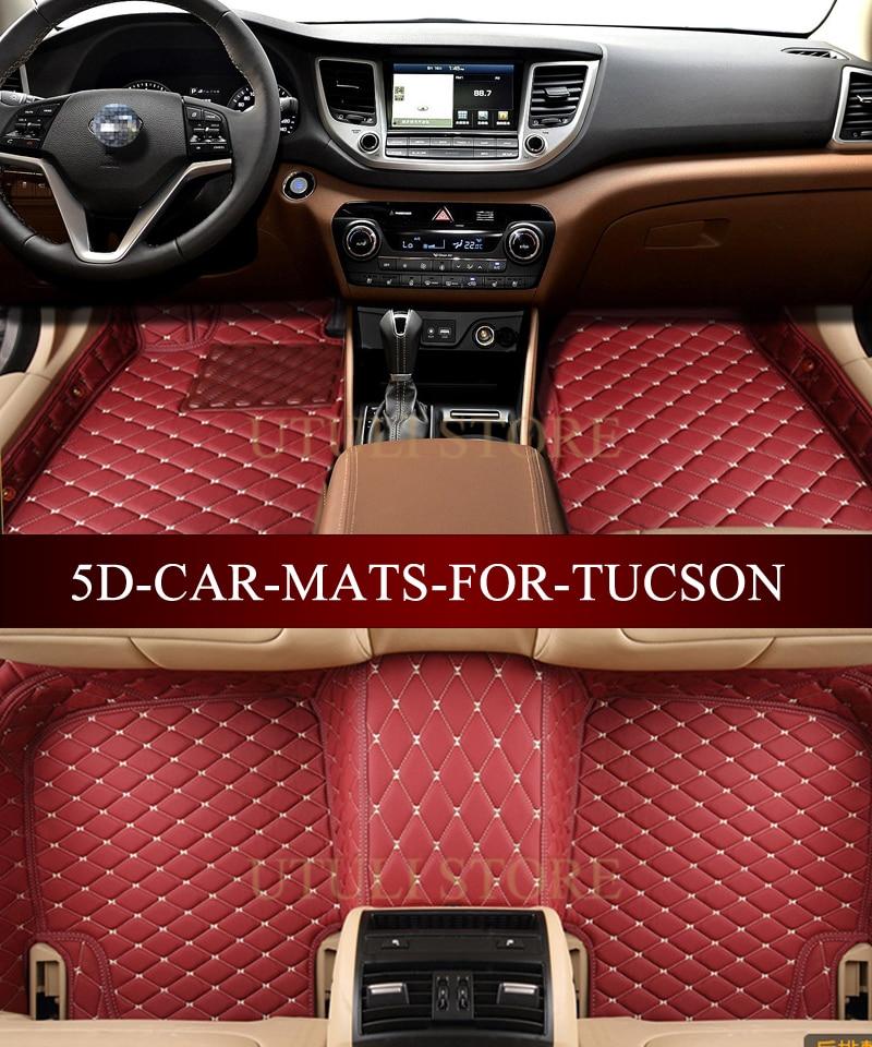 Tapetes de cuero para el auto para Hyundai Elantra Santa Fe Sonata - Accesorios de interior de coche - foto 5