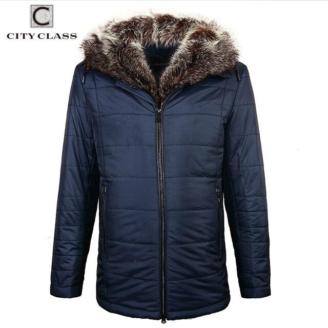 CITY CLASS зимняя куртка Для мужчин американский енот парка с капюшоном в верблюжьей шерсти зимняя мужская куртка и пальто Высокое качество модная зимняя мужская одежда 18839