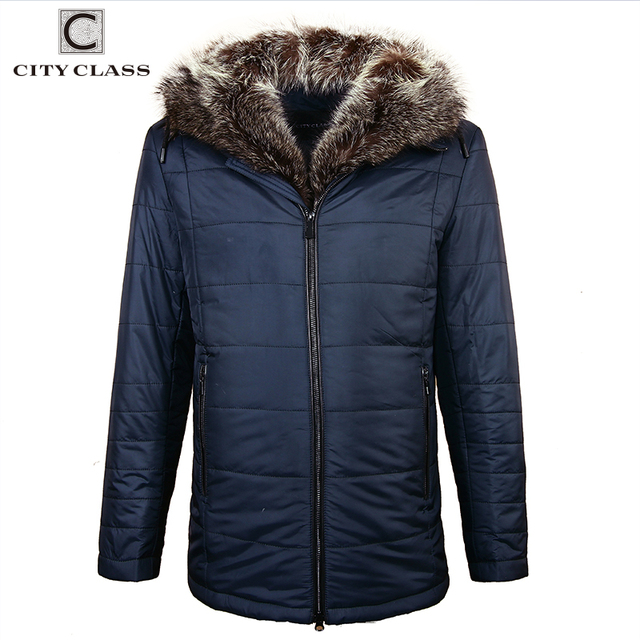 Flash Sale City Class Winter Jacket Men American Raccoon Fur Hooded Parka in Camel Wool Men Coat High End Fashion Mens Clothes 18839