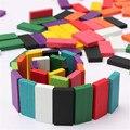 Nueva Llegada 240 unids/set 10 colores Auténtico Estándar De Madera Niños niños Domino Juguetes Juegos de Bloques de Construcción Para Niños Juguete