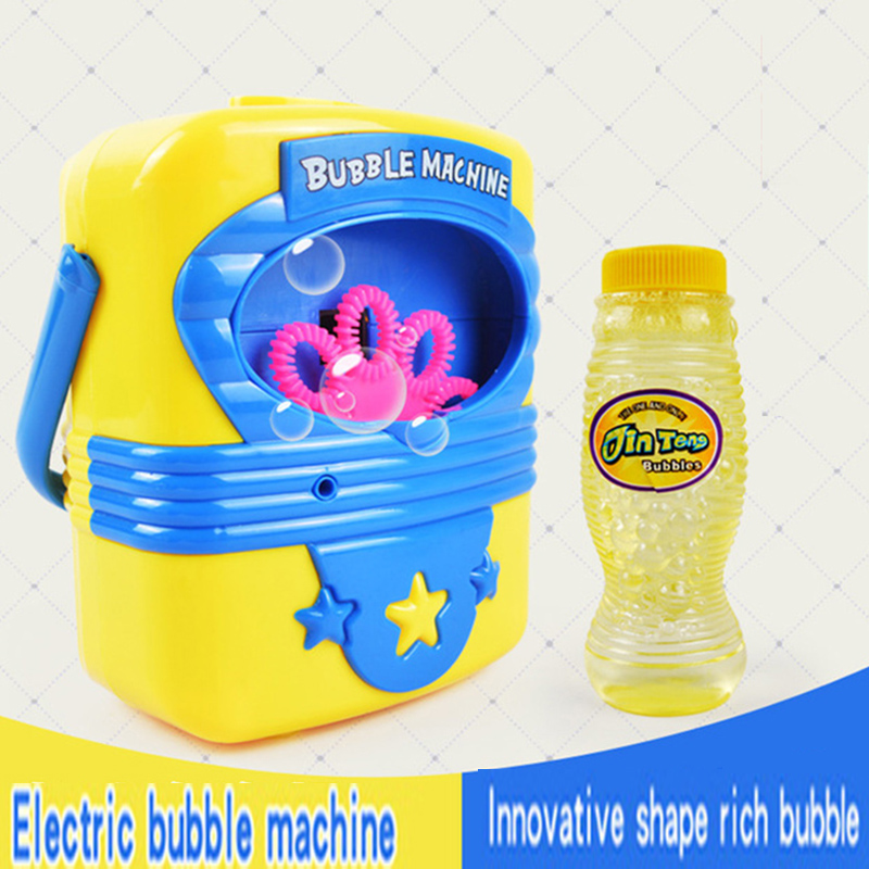 Kids Electronic Automatic Bubble Machine Blower Maker Toys For Chidlren  light Up Flashing Bubble Gun With Music Boy Girl Summer