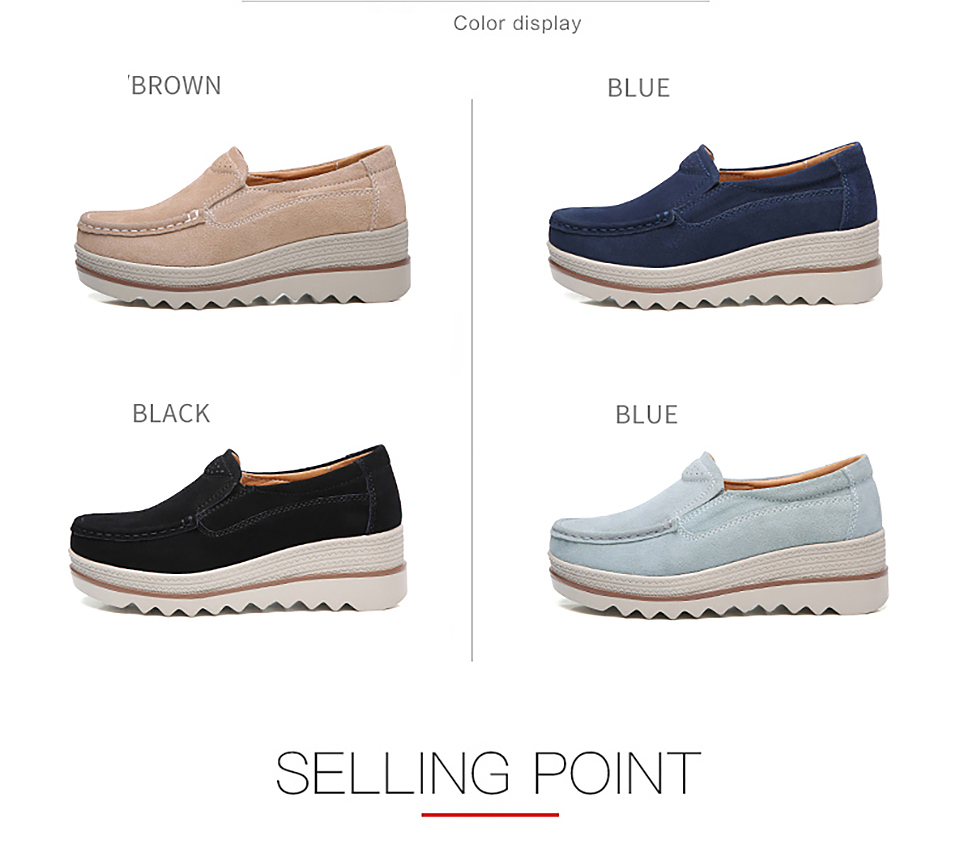 HTB1fMmratfvK1RjSszhq6AcGFXag 2019 Spring Women Flats Shoes Platform Sneakers Slip On Flats Leather Suede Ladies Loafers Moccasins Casual Shoes Women Creepers