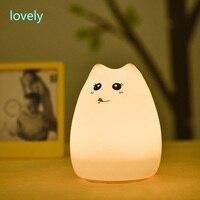 Chrismise Lamp Creative led animal light USB charging light led decorate colorful color cat night light bedroombedside lamp