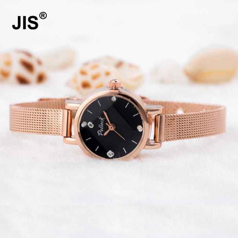 2018 Luxury Crystal Rose Gold Silver Small Dial Full Stainless Steel Wedding Quartz Wristwatches Wrist Watch for Women Ladies cute rose gold crystal flower thin strap small dial leather quartz women ladies wristwatches wrist watch gift