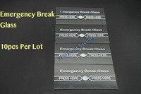 10 stücke Pro Los Notfall Brechen Glas VOLL ENGLISCH 911 Alarm Taste für Feuer und Notfall EIN teil von Access system|buttons buttons|button alarmbutton glass -