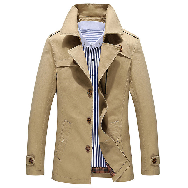 Manteau Homme Nice Fashion Trench Coat Men Jacket Men Cheap Mens ...
