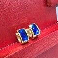 3 Par/lote colorido pendientes de aro de acero inoxidable chapado en oro de joyería de moda brazalete Pendiente brinco