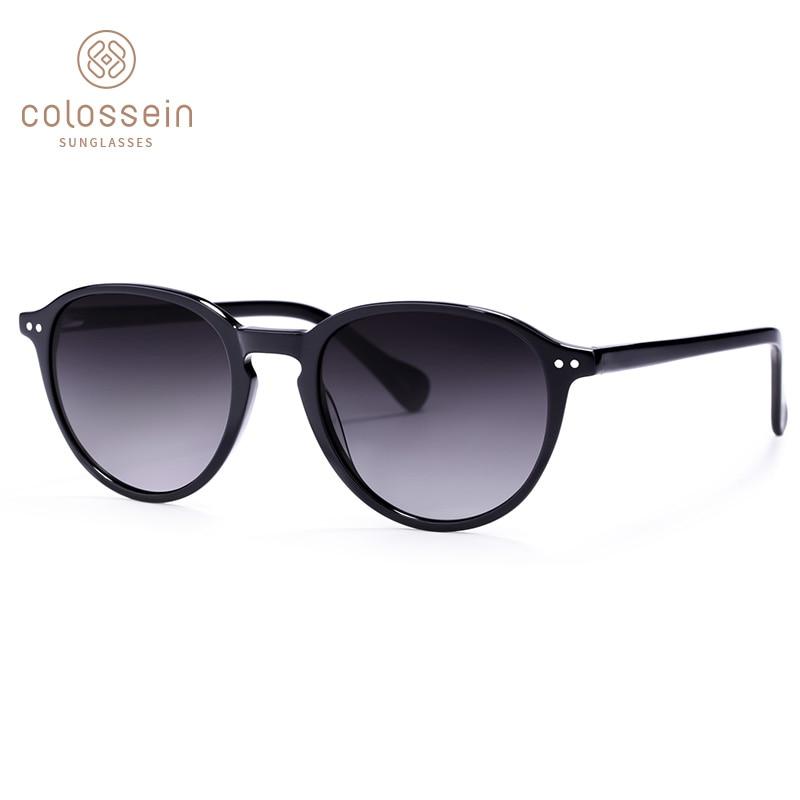 COLOSSEIN Sunglasses Women Vintage Cat Eye Glasses With Polarized Frame Black Sunglass Men Outdoor Oculos Gafas