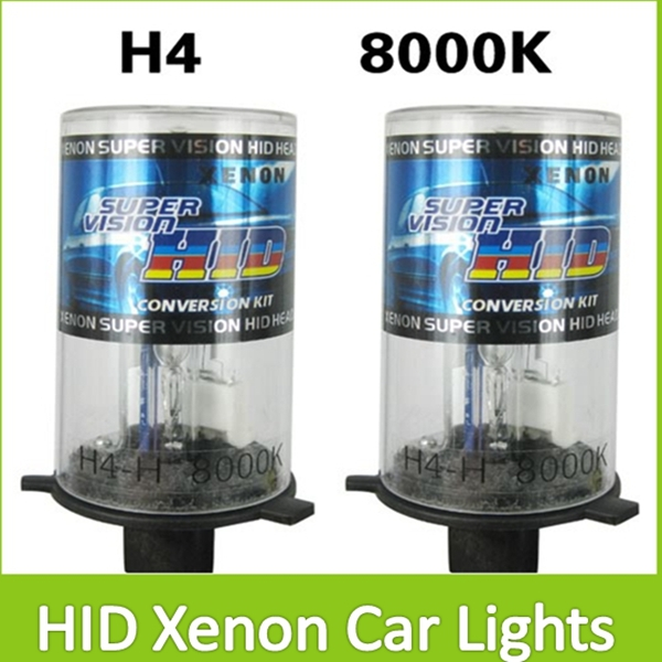 Super Brightness waterproof H4 8000K Auto Car Conversion HID Xenon Lights Head Lamp Buble Bright White Beam,! ...
