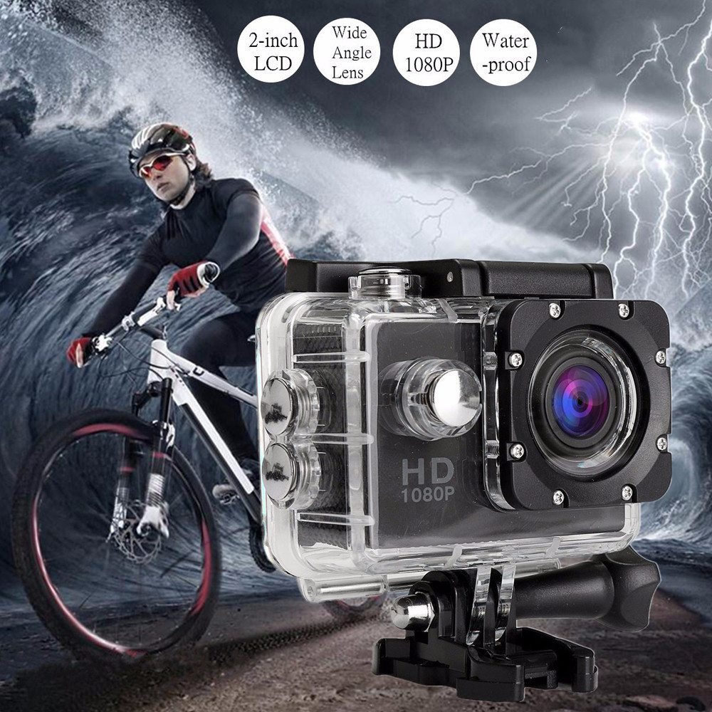 Waterproof Full HD 1080P Sports Action Camera DVR Cam DV Video Camcorder 720P WVGA Singl ...