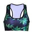 Ropa interior sin costuras Sujetador inalámbrica Hoja Verde sujetador ropa interior del sueño de las mujeres