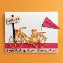 JC Metal Cutting Dies for Scrapbooking Cut Old Bicycle Bike Craft Stencil Folder Paper Card Make Model Decoration 2019 Die