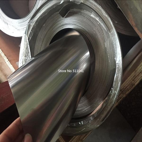 Titane pur métal Ti Gr1 Grade1 0.5mm mince plaque feuille titane feuille bande 0.5mm * 205mm, paypal