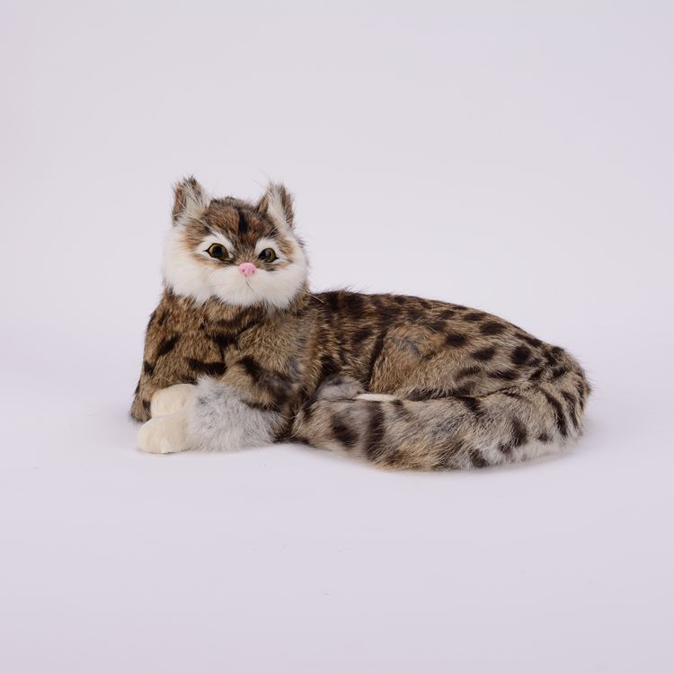 high quality simulation cat lifelike gray pattern lying cat doll gift about 25x11x20cm simulation animal large 30x25 cm lovely cat model lifelike white cat with long tail decoration gift t474