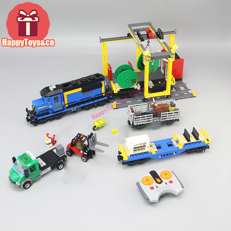 Lepin New City series 60052 959Pcs the Cargo Train toys For Children Gift 02008 Building Blocks Set Compatible Education cargo train model block toys city rc train birthday gifts for children compatible lepin technic series building blocks set 02008
