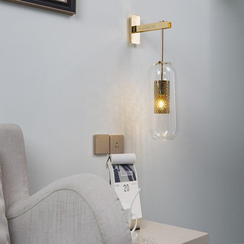 Nordic современный стекло бра гостиная спальня ночники бра
