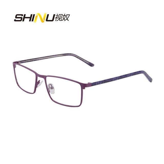 Nueva Llegada de Metal de Acero Inoxidable Cuadrado Gafas Hombres Gafas Gafas con Montura de Lente Clear lentes Enmarcan Gafas De Grau SR8027