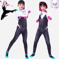 Sexy Spider Woman Costume for Girls Adult Gwen Stacy Spandex Spider Woman Cosplay Kids Women Halloween Spiderman Suit Outfit