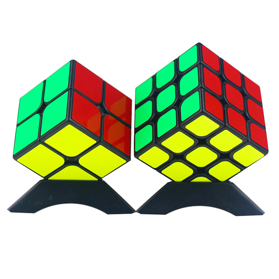Set Magic Cube Puzzle 3x3x3 2x2x2 Spinner Fidget Toys Square Cube Speed Magic Anti Stress Cubo Magico Professional 601954 game darts legering metalen wapen model draaibaar darts cosplay props voor collectie fidget spinner hand anti stress