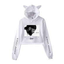 2019 New Rep nipsey hussle fashion print Cat Crop Top Women summer kpop Hoodies Sweatshirt Sexy cat hooded Harajuku plus Size