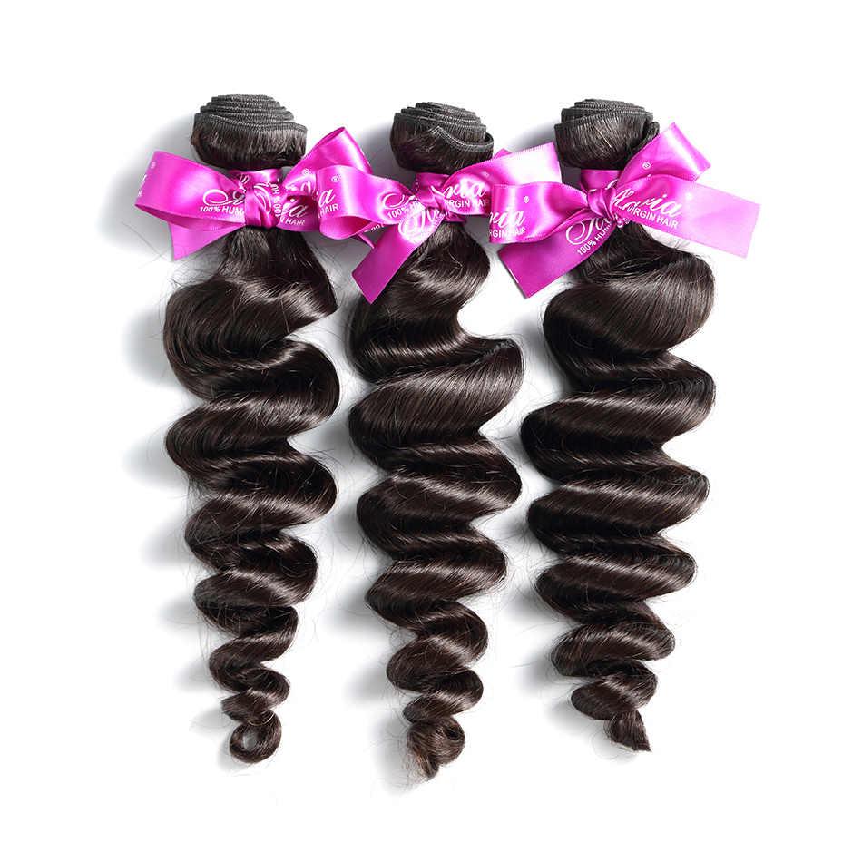 ILARIA волосы Свободные волны перуанские прямые волосы пучок s 100% девственные человеческие волосы ткет пучок ткачество натуральный цвет 3 Полный пучок
