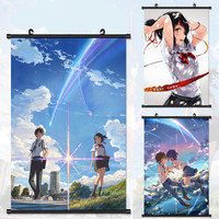 40 60cm NEW Your Name Wall Scroll Painting Anime Paintings Wall Stickers