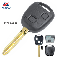 KEYECU Remote Key ( 60040 ) 2 Button 304MHz for Toyota With 4C Chip Uncut Blade TOY43