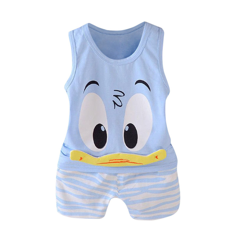 2pcs Boys Clothing Sets Summer Children Casual Vest Cotton T-shirt and Shorts suit Children Kids Clothes Sets Infants Costume P5