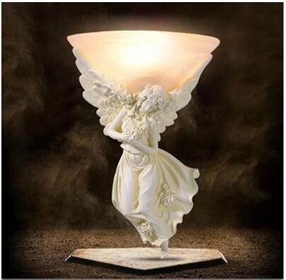Resin Angel light Carving Athena Goddess Romance Wall Lamp WLL-7