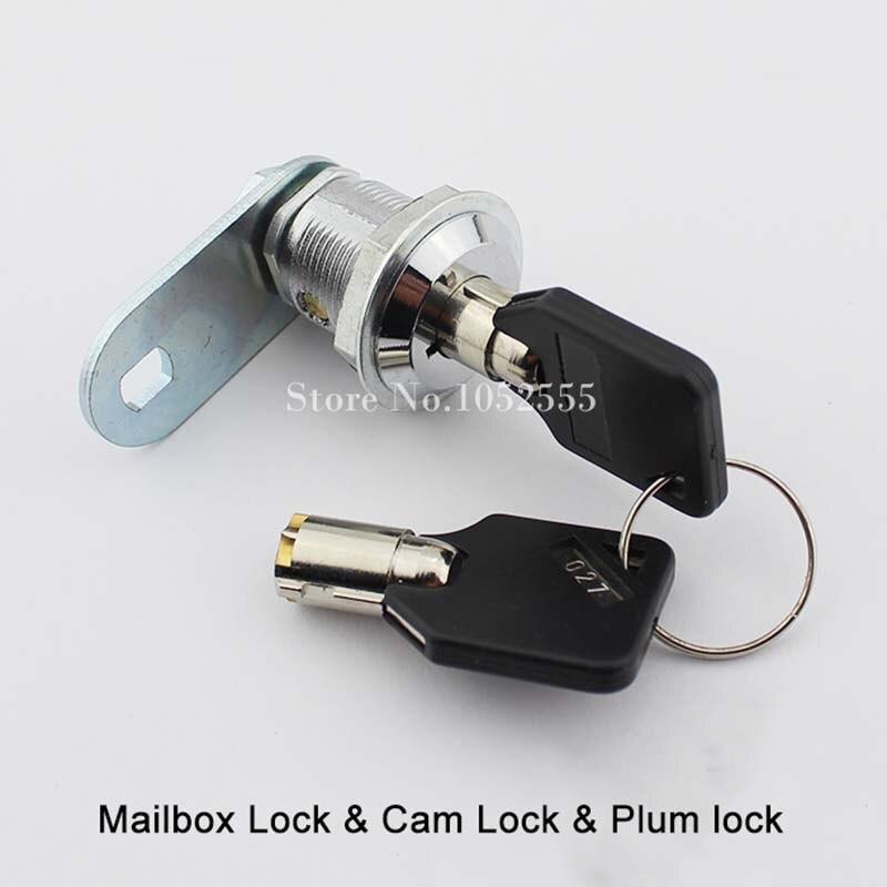 High Quality 10PCS Zinc Alloy Plum Copper Key Lock to the Tongue Electrical Box Cabinet Locks