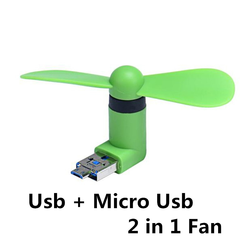 FFFAS 2 in 1 Mini Cool Mute Power Bank USB Fan Micro USB fans Gadgets Tester For Xiaomi HTX android mobile phone Powerbank