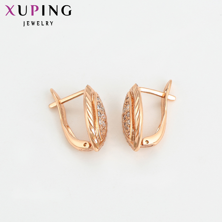 dcf3d644c9f6 Xuping Fashion Earring Rose Gold Color Elegant Hoop Earrings for Women  Popular Design Mother s Jewelry Gift