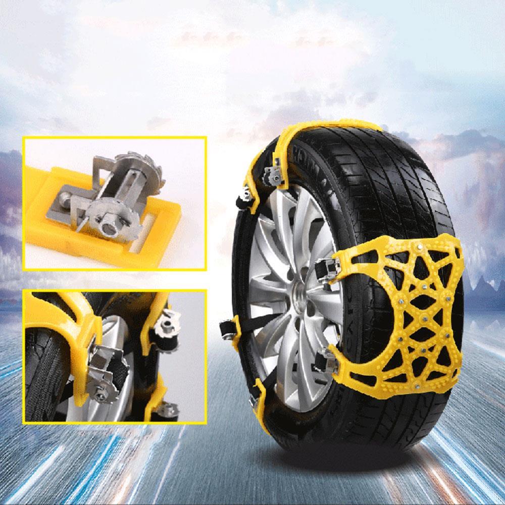 Vehemo Car Snow Chains Antislip Snow Mud Adjustable Anti