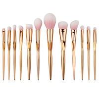 12 Pcs Set Rosegold Makeup Brush Set Heart Shape Face Foundation Powder Brushes Pro Eye Brushes