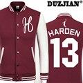 DUZJIAN Spring new Rocket James Harden casual jacket cheap men winter jackets male coat boys jacket hip hop mens tweed jacket