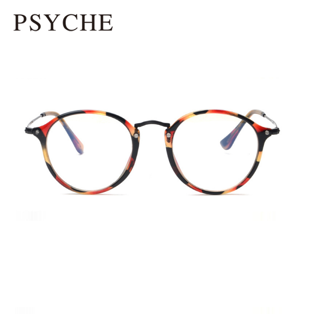a5495e244dad1 Moda Retro Óculos de Armação Oculos de grau Vintage Pernas Finas Para  Mulheres Rodada Óculos de