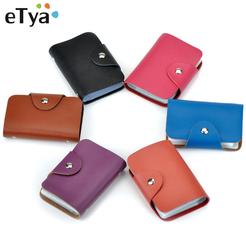 Hot Sale 26 Slots Card Holder Genuine Leather Business Bank Credit ID Card Bus Card Holders Case Women Wallet Organizer Purse hot sale 2015 harrms famous brand men s leather wallet with credit card holder in dollar price and free shipping